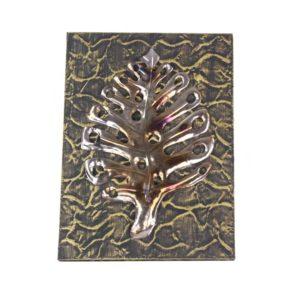 Folha Estilizada em metal (quadro 37x4x50cm)