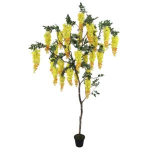 Wisteria artificial (árvore 1,80m) - amarelo