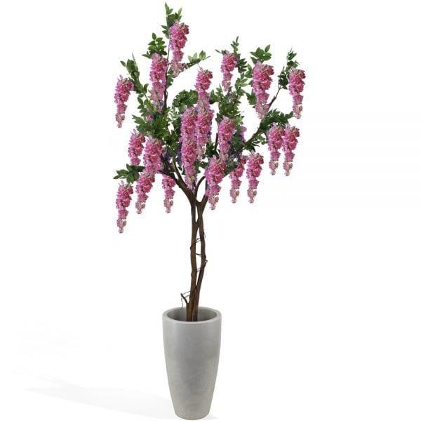 Wisteria artificial (árvore 1,80m) - rosa