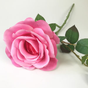 Rosa em Silicone (galho 65cm) - pink