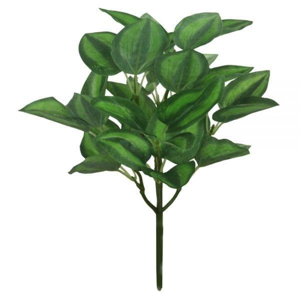 Maranta Mini Artificial x5 (folhagem 30cm) - verde