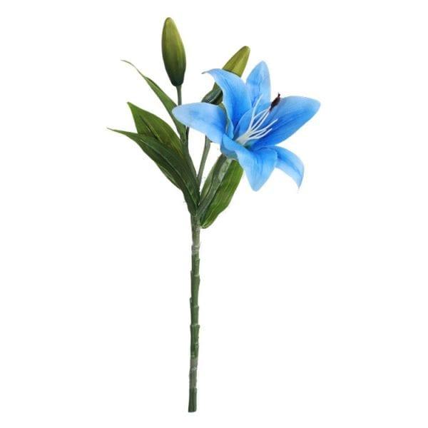 Lirio permanente (galho 38cm) - azul