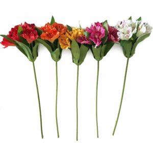Astromélia Galho Floral Artificial (47cm)