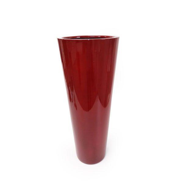 foto do Vaso Dixie Cônico (30X75cm) na cor Vermelho Royal
